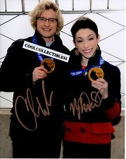 MERYL DAVIS & CHARLIE WHITE OLYMPIC GOLD MEDALISTS SIGNED 8X10 PHOTO 1 COA PROOF