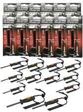 Lot of 12 Emergency Flint Fire Starter W/ Rubber Handle Camping Survival Bug-Out