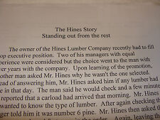 United Parcel Service UPS The Hines Story