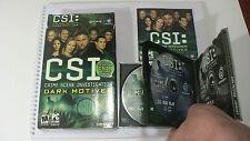CSI: Crime Scene Investigation -- Dark Motives (PC, 2004) Complete in Box CIB