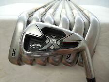 Used RH Callaway X22 X-22 Tour 4-PW Iron Set Callaway X 75g Stiff Flex Graphite