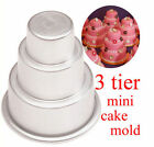 Mini 3-Tier Cupcake Pudding Chocolate Cake Mold Baking Pan Mould Party