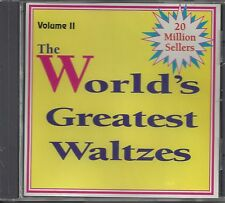 """VARIOUS ARTISTS  """"The World's Greatest Waltzes Vol. 2""""  SEALED POLKA CD"""