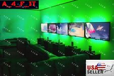 WIRELESS LED Accent Lighting Kit Home Theater TV Backlight Kit Strip Lights USA