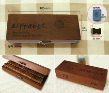 Cool Gift Wooden Rubber Stamps Alphabet Letter Number Wood Set Box CCC