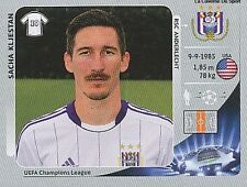 N°203 KLJESTAN # USA RCS.ANDERLECHT CHAMPIONS LEAGUE 2013 STICKER PANINI