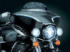 Kuryakyn 7753 Chrome Lighted Bat Lashes Accents for 1996-2013 Harley Touring
