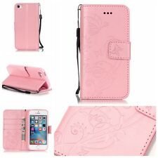 Luxury Butterfly Flower Leather Wallet Case Cover W Stand For Apple iPhone 5 5S