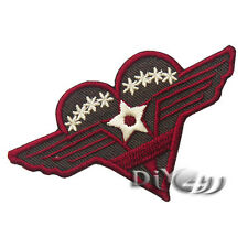 SERGEANT STRIPES STAR MILITARY ARMY Patch Iron On Embroidered Cloth Red Heart