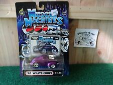 Muscle Machines 41 Willy's Coupe Purple 1:64  Diecast 1941 Gasser 01-15