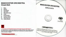 MANCHESTER ORCHESTRA Simple Math UK 10-trk numbered/watermarked promo test CD