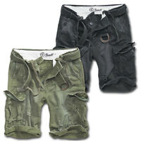 BRANDIT SHELL VALLEY SHORTS MILITARY ARMY VINTAGE CARGO COMBAT BELT KNEE LENGTH