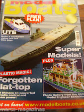 MODEL BOATS FEBRUARY 2013 UTE WORKBOAT PLAN SEA CAT TRAWLER POOLE IJN SHINANO