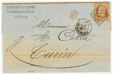 France Cover - Nap III - 1867 Lyon to Roma (IT)