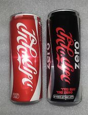 2 items collection from Israel Coca Cola+Cola zero empty can drink (Hebrew text)