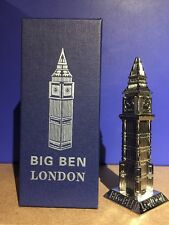 London Big Ben Metallic Model In Gift Box British Souvenir