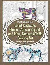 Coloring Books For Adults GrownUps Wild Animals Dover Activity Creative Designs