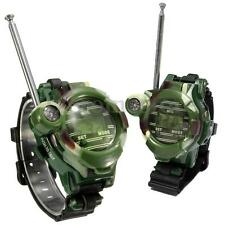 2X New Walkie Talkie Military Watch Style With Magnifier Light And Compass
