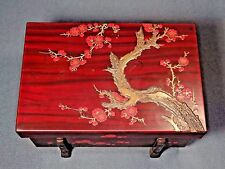 19th C. Early Taisho Period Japanese Cherry Blossom Lacquer Box