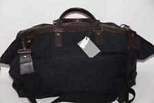 JACK SPADE Cotton Canvas Leather Trim  Duffle Bag