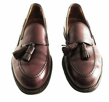 ALDEN # 663 Burgundy Leather Loafers With Tassels Shoes 9 B/D
