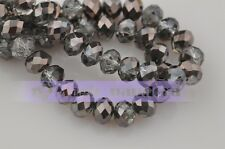 100pcs 3x2mm Wholesale Rondelle Faceted Crystal Glass Charms Loose Spacer Beads