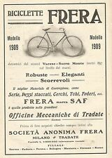 W7582 Biciclette FRERA - Pubblicità del 1909 - Old advertising