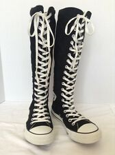 Converse Chuck Taylor Black Knee High Boot Mens 6 Women's 8 Cosplay