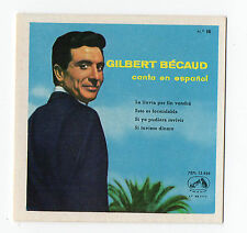 1960 Spanish Film Star Card French Singer Composer Pianist Actor Gilbert Bécaud