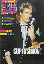 TUTTI FRUTTI 28 1986 Duran Duran A-Ha Bryan Ferry Queen David Lee Roth Cattaneo
