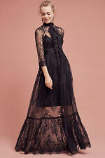 Anthropologie Laced Victorian Maxi Dress Tracy Reese Black Label NWT $498 Medium