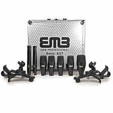 EMB EMIC-KIT7 Professional Drum Set 7 Piece Microphones Mic Kit For Home, Studio