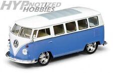 WELLY 1:24 1962 Volkswagen VW BUS LOW RIDER DIE-CAST BLUE 22095LRW-BL