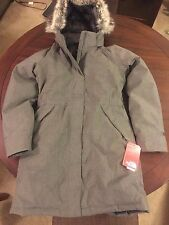 NWT Women's North Face Small Graphite Grey Heather Arctic Down Parka Jacket!