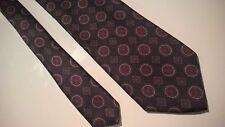 Gieves & Hawkes Black with Purple Geometric Foulard Classic Silk Tie, 59.75""