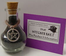 WITCHES SALT - BLACK SALT - SAL NEGRO 50g Wicca Pagan Witch PROTECTION