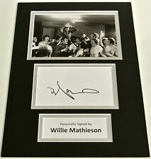 Willie Mathieson SIGNED autograph A4 Photo Mount Display Glasgow Rangers & COA