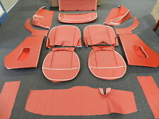 Leather Triumph TR3 interior kit fits models with slant rear floor Sierra Red**
