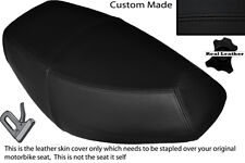 BLACK STITCH CUSTOM FITS PULSE SCOUT 50 BOATIAN DUAL LEATHER SEAT COVER