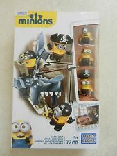 BNIB Mega Bloks Minions Shark Bait Figure Buildable Construction Pirate Set .