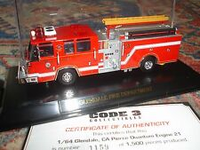 CODE 3 – FDNY  – GLENDALE  CA PIERCE QUANTUM ENGINE 21