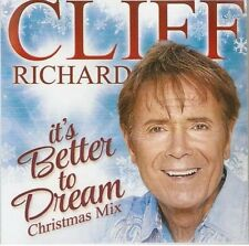 CLIFF RICHARD - ITS BETTER TO DREAM CHRISTMAS MIX -  PROMO CD MINT&PRESS SHEET