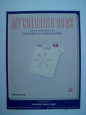 1962 My Coloring Book Fred Edd John Kandle Sunbeam Music Corp clearance price