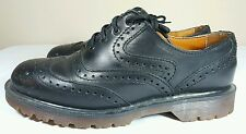 Dr Martens Air Wair Men's Brogue Wing Tip Shoes Black Men 7 Made In England