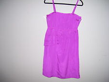 Mark Womens Size L Fuschia SunDress with Adjustable Straps 100% Polyester