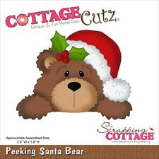"CottageCutz Die ~ Peeking Santa Bear, 2.9""X1.8""  4X4593 ~ NIP"