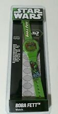 Star Wars Multifunction Digital Watch For Child Boy Girl Green 3D Boba Fett NEW