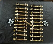 "23 pcs antique look Drawer Brass Handle Cabinet  Door Dresser Pull 3"" on center"