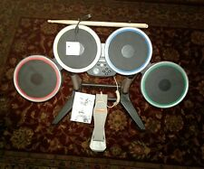 Rock Band 1, 2, 3 Wireless Drums, Nintendo Wii complete dongle/sticks/pedal/game