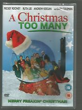 A CHRISTMAS TOO MANY - Mickey Rooney  UK DVD sealed/new